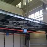 Industrial four columns lift platform man on board built and installed for a company in Este near Padova // 7_1345811996