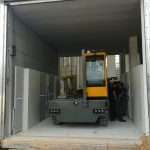 Car lift, car park elevator, automatic car parking, waste collection, goods and car custom lifting platforms - Ecospace srl // saturno-cargo-1